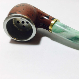 Pipa Con Cazoleta De Metal Diseño 10 Cm / Pipitas Fumador Ta