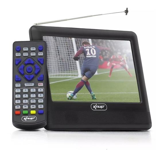 Tv Digital Portátil 7 Hd Knup Kpmd 004 Usbhdmi Frete Grátis