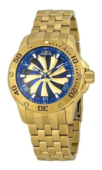 Relógio Yt089 Bv Speedway Preto Automático Série Dourado Top