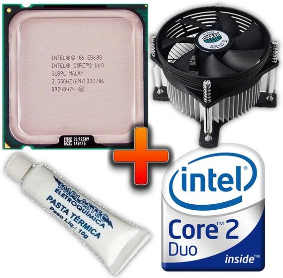 Processador E8600 Core 2 Duo 3.33ghz Intel Cooler 775 6mb