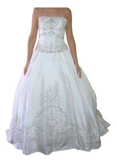 Vestido De Noiva - Marfim - 36 - Fotos Reais - Vn00036