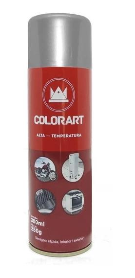 Tinta Spray Alta Temperatura Aluminio Motor Escapamento Moto