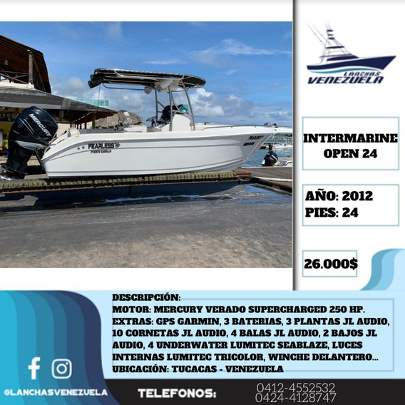 Lancha Intermarine Open 24 Lv424