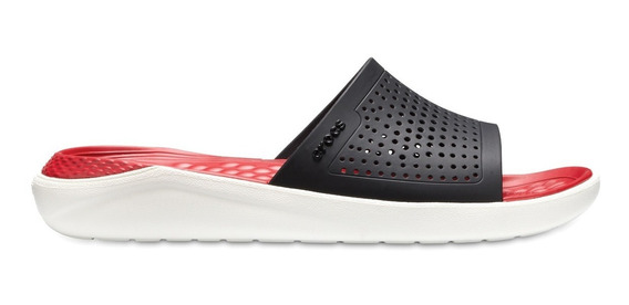 Sandalia Unisex Crocs Literide Slide Negro / Rojo