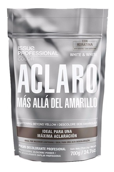 Polvo Decolorante Issue Aclaro White & White Keratina X700gr