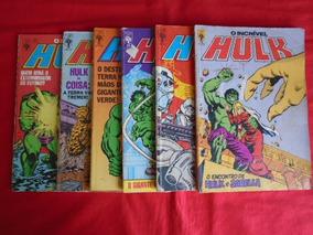 O Incrível Hulk - Nºs 19, 33, 34, 35, 38 E 39 / Frete: 10,00