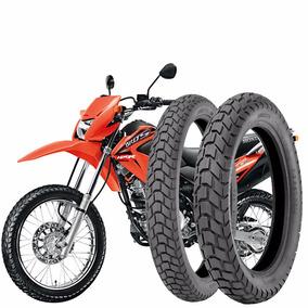 Kit Pneu Moto Bros/xre T-110/90-17+90/90-19-d C/cama Technic