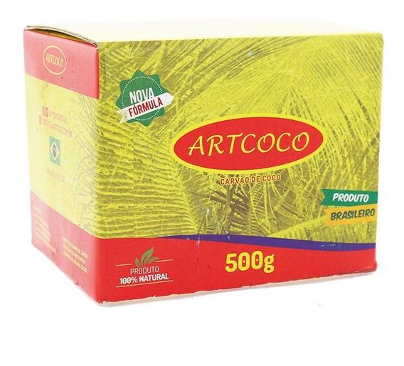 Carvão De Coco Para Narguile Art Coco 500 Gramas Promoção
