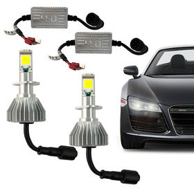 Kit Super Led Lampada H1 H3 H4 H7 H8 Hb3 Hb4 Efeito Xenon