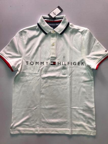 Playera Para Caballero Tipo Polo Marca Tommy Original Wo323