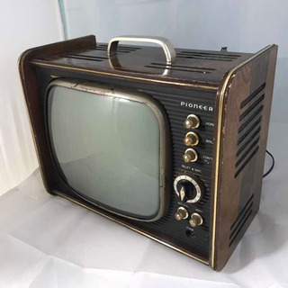 Raro Antigo Rádio Televisor Pioneer Portátil Corpo Madeira