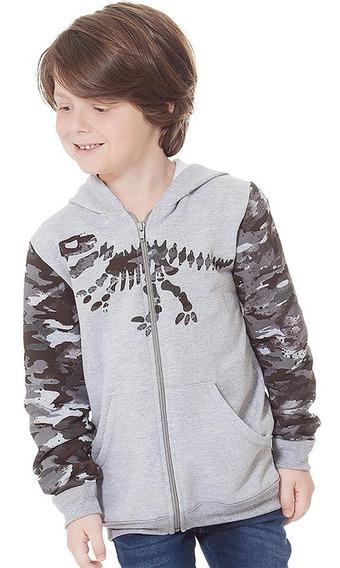 Jaqueta Infantil Masculina Moletom Rovitex 04 A 10 Anos