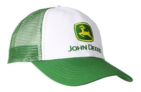 Gorra John Deere Blanco/verde Original Con Malla Posterior