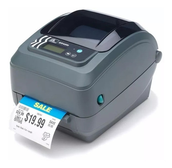 Impressora De Etiquetas Código Zebra Gx420t - Funcionando