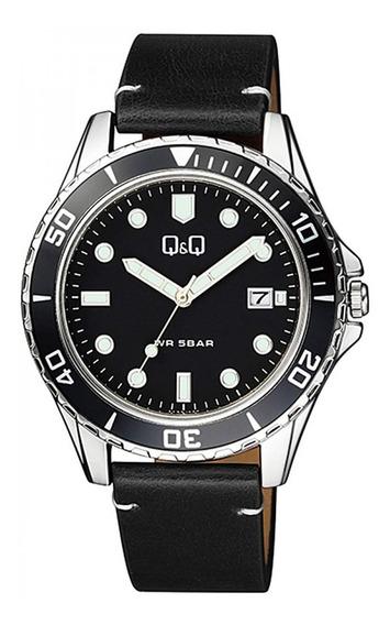 Reloj Q&q By Citizen Casual Correa Cuero Mod. A172j332y