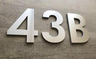 Números Para Oficina O Casa De 20 Cm Aluminio