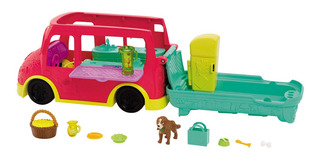 Boneca - Polly Pocket - Playset Food Truck 2 Em 1