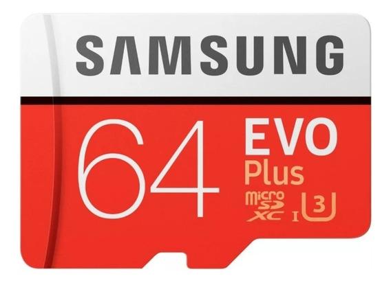 Cartão Samsung Micro Sd 64gb Classe 10 100mbs/s + Adaptador