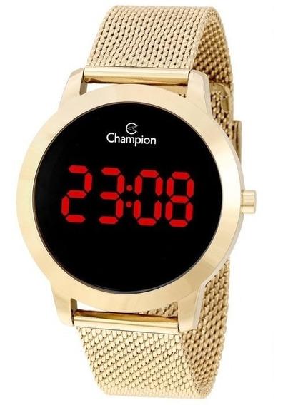 Relógio Digital Feminino Champion Dourado Ch40106h