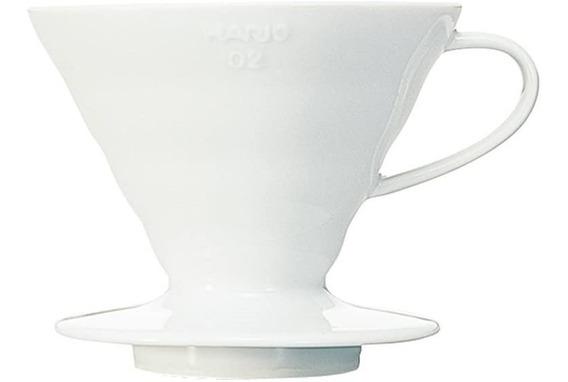 Hario V60 Café Gotero Dripper 02 Cerámica / Blanco