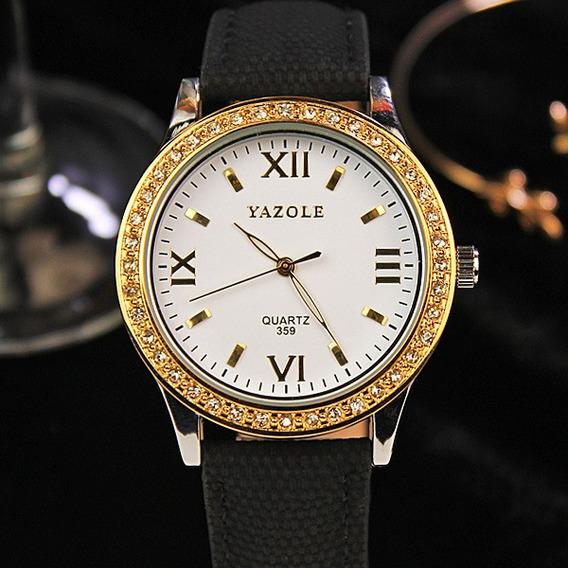 Yazole Mulheres Yazole Relógios De Ouro Diamante Relógios De