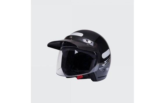Capacete Moto Aberto Wind V2 Visor Speed Preto Tam 56