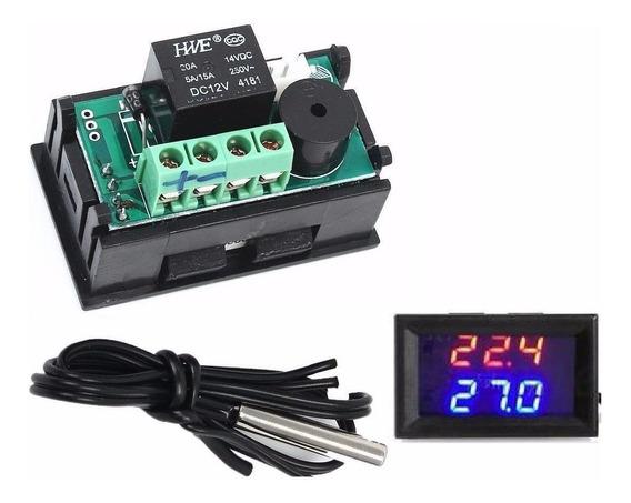 Termostato Digital Controle De Temperatura W1209 Wk 12v Led Chocadeira