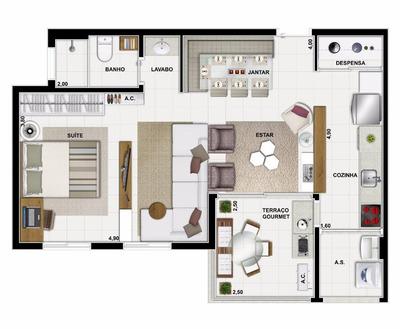 Apartamento Com 2 Dormitórios À Venda, 58 M² Por R$ 478.159 - Portal Do Morumbi - São Paulo/sp - Ap0337