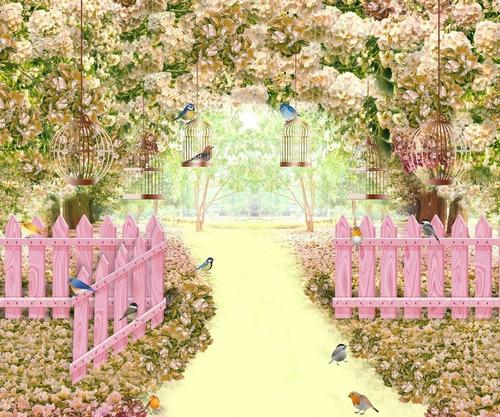 Painel Lona Festa Aniversário Infantil Jardim Encantado