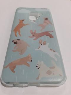 Capa Capinha Samsung Galaxy A8 2018 Chuva De Dogs Husky Dog