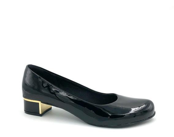 Sapato Tamanho Especial 38 A 42 Verniz Preto Adriana