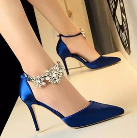 Sapatos Luxo Casamentos Seda Fivela De Cristal/frete Grátis