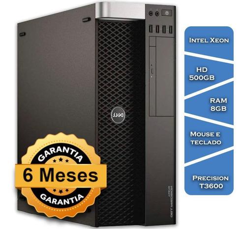 Imagem 1 de 10 de Workstation Dell Precision T3600 Xeon E5-1620  Hd500 8gb