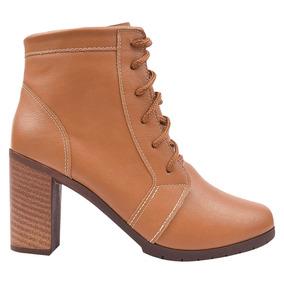 Bota Coturno Sapato Feminino Salto Cano Curto Tratorada