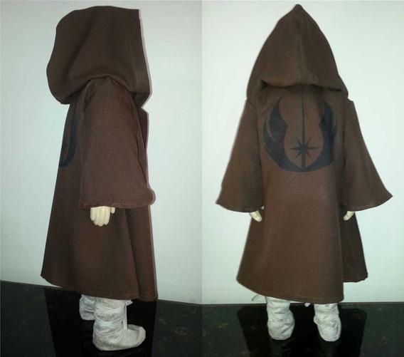 Capa Jedi Manto Bebê Infantil Fantasia Star Wars