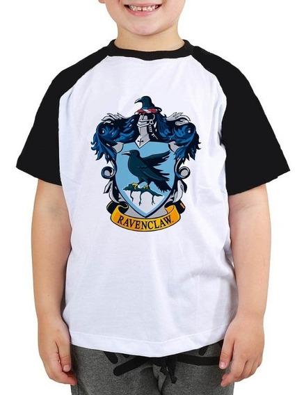 Camiseta Harry Potter Ravenclaw Filme Raglan Infantil
