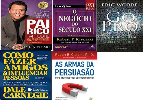 Kit 5 Livro Pai Rico Go Pro Negocio Xxi Armas Como Fazer