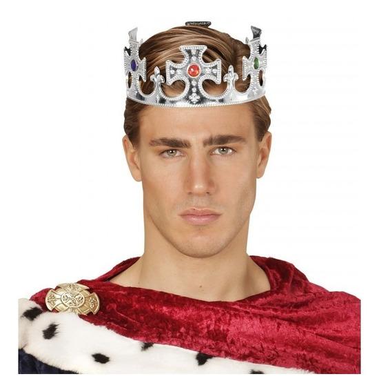 12 Corona Rey Mago Príncipe Plástico Boda Fiesta Temática