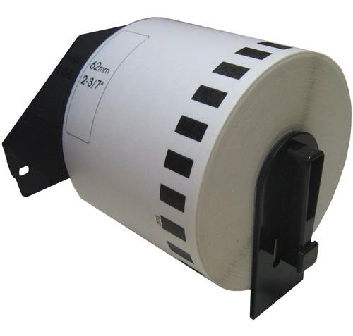 Imagen 1 de 4 de 10 Rollos   Brother Ql800  62mmx30mt + Soporte 62mm