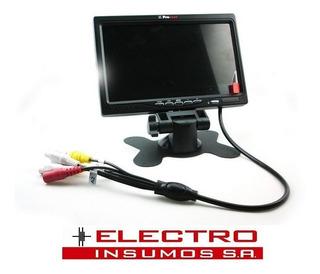 Monitor 7 Con 2 Entradas De Video, Splitter Y Audio
