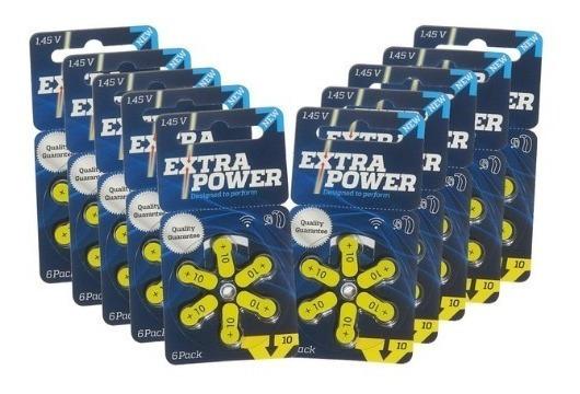 90 Pilhas Baterias A10 Pr70 Aparelho Auditivo - Extra Power