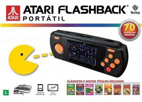 Video Game Atari Flashback Portátil Com 70 Jogos Na Memória