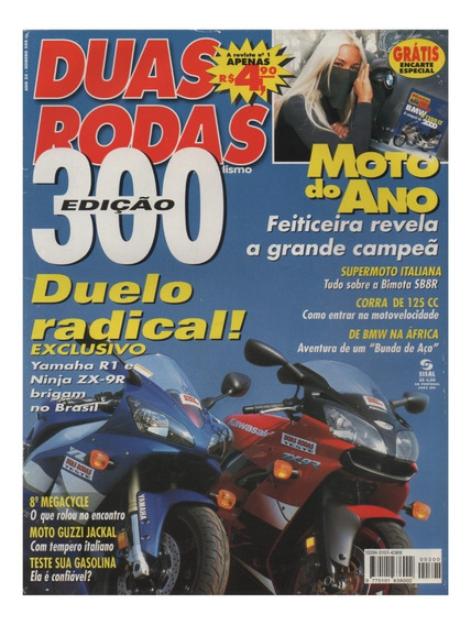 Duas Rodas N°300 Yamaha R1 Kawasaki Ninja Zx-9r Bimota Sb8r