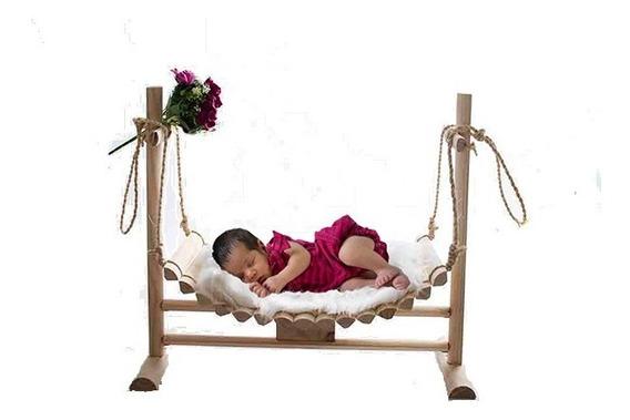 Cesto Newborn De Balanço P/ Ensaio Fotográfico Recém Nascido