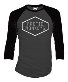 Arctic Monkeys Playeras Manga 3/4 Para Hombre Y Mujer