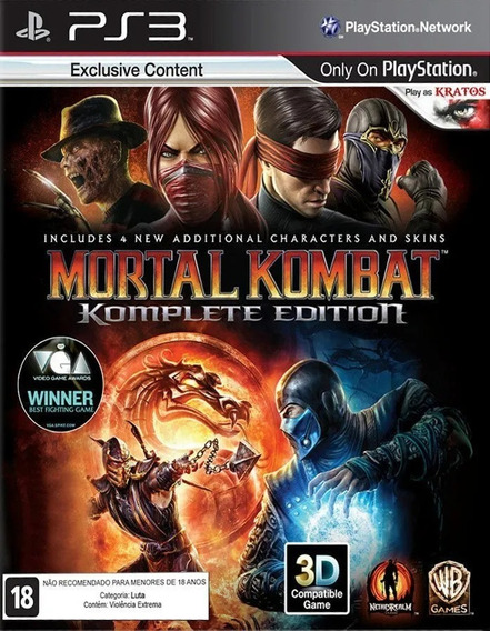 Jogo Ps3 Mortal Kombat 9 Komplete Edition Ps3 Legendado Br