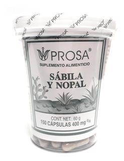 Sabila Y Nopal Prosa Con 150 Capsulas Envio Full