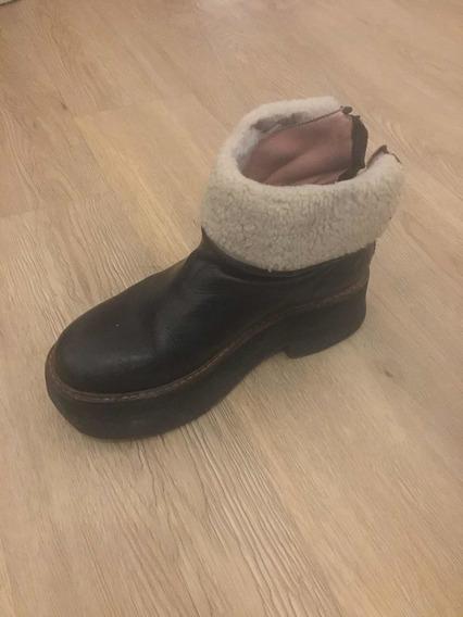 Zapatos Invierno Sybil Vane Talle 39. 100% Cuero + Corderito