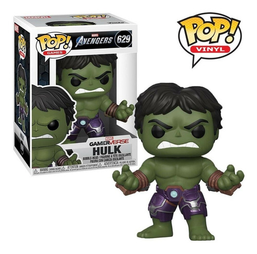 Funko Pop Games Figura Hulk 629 Avengers Marvel Original