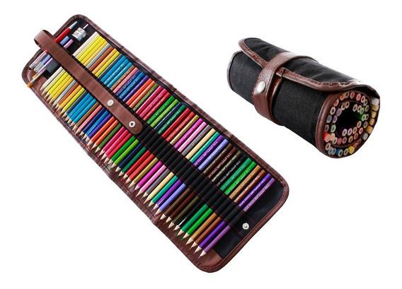 Juego 48 Lapices Colores Profesionales En Estuche Enrollable